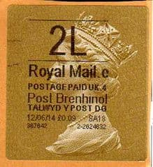 2014 '2L' (E 4) WALSALL WELSH GOLD TYPE 3 LABEL