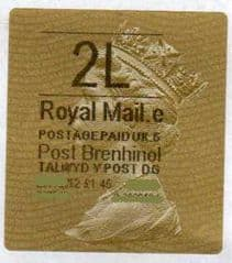 2014 '2L' (E 5)POST BRENHINOL TYPE 2a LABEL(RARE CODE 5)