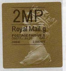 2014 '2MP' (G 5) GOLD HORIZON TYPE 2a (RARE CODE 5 -LATE USE OF LABEL)