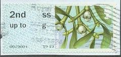 2014 2ND    SS 'BRITISH FLORA - MISTLETOE' (MISSING FONT) FINE USED