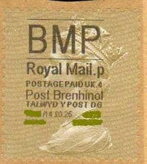 2014-5 'BMP'( P 4) 'POST BRENHINOL' GOLD PERF TYPE 1  (RARE LATE USE )