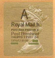 2014  A ( H 4)(£0.00) POST BRENHINOL TYPE II ( RARE FACE VALUE)
