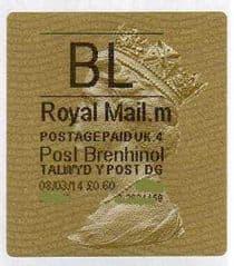 2014 'BL' ( M 4) 'POST BRENHINOL' TYPE II+ CODES