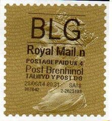 2014 'BLG'(N 4) 'POST BRENHINOL' GOLD PERF  RARE LATE USE