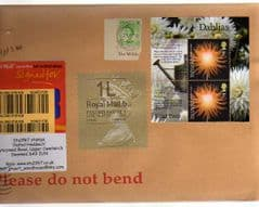2014  ENGLISH 1L (B 4) TYPE 1 HORIZON LABEL+ 1ST DAHLIA'S ON COVER - LATE USE OF TYPE 1 LABEL