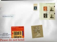2014  ENGLISH 2LG (F 4) TYPE 1 HORIZON LABEL+ MACHINS ON COVER  LATE USE OF TYPE 1 LABEL + 3 X 1ST MACHINS