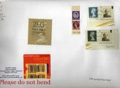 2014  ENGLISH 2LG (F 4) TYPE 1 HORIZON LABEL+ MACHINS ON COVER - LATE USE OF TYPE 1 LABEL
