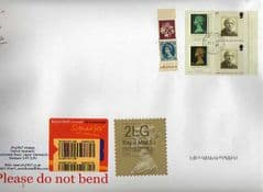 2014  ENGLISH 2LG (F 4) TYPE 1 HORIZON LABEL+ MACHINS ON COVER , LATE USE OF TYPE 1 LABEL