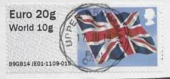2014 EURO 20g/ WORLD 10g 'UNION FLAG' (B9GB14 JE01) FINE USED