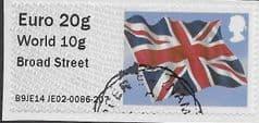 2014 EURO 20g / WORLD 10g 'UNION FLAG' (BROAD STREET) FINE USED