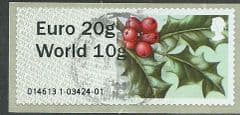 2014 'EURO 20g/WORLD 10g' WINTER GREENERY-  HOLLY' ( TYPE II- WINCOR LABEL) FINE USED