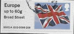 2014 EURO 60g  'UNION FLAG' (BROAD STREET) FINE USED