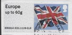 2014 EUROPE 60g 'UNION FLAG' (B9GB14 JE01) FINE USED