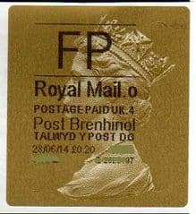 2014 'FP' (O 4) WALSALL WELSH GOLD TYPE 3 LABEL