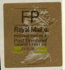 2014 'FP' ( O 5) POST BRENHINOL (TYPE 2a)  RARE LABEL