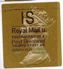 2014 'I.S' (U 4) WELSH WALSALL TYPE 3 LABEL    (NEW SERVICE FROM 30TH MAR 2014)  RARE