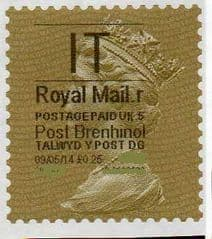 2014 'I.T'( R 5) 'POST BRENHINOL' GOLD PERF  (NEW SERVICE FROM 30 MAR 2014)  VERY LATE USE OF TYPE 1