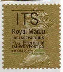 2014 'I.T.S'( U 5) 'POST BRENHINOL' GOLD PERF  (NEW SERVICE FROM 30 MAR 2014)  VERY LATE USE OF TYPE 1