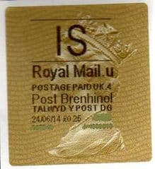 2014 'IS' (U 4) POST BRENHINOL TYPE II    (RARE NEW SERVICE FROM 30TH MARCH 2014 )