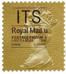2014 'ITS' (U 4) 'ROYAL MAIL' TYPE 1   (RARE LATE USE OF TYPE 1)