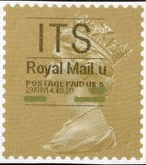 2014 'ITS' (U 5) 'ROYAL MAIL' TYPE 1   (RARE LATE USE OF TYPE 1)