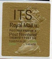 2014 'ITS' (U 4) POST BRENHINOL TYPE II   (NEW SERVICE FROM 30TH MARCH 2014 )