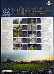 2014 'MCC CRICKET CLUB' COMMEMORATIVE SHEET  RELEASE DATE 25TH FEB 2014   REF:CS23