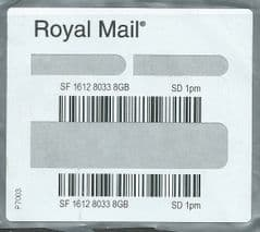 2014 'ROYAL MAIL' SD BY 1PM' (REF: P7003) USED LABEL