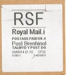 2014 RSF ( i 4)(£1.10) 'POST BRENHINOL'  NEW TARIFF   VERY RARE LATE USE