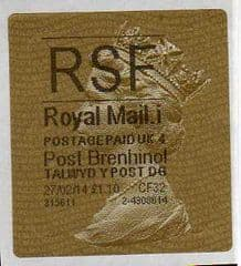 2014 RSF ( i 4)(£1.10) 'POST BRENHINOL' TYPE 2a (NEW SECURITY SLITS) RARELY SEEN WITH A FACE VALUE