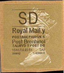 2014 'SD' (Y 5) WALSALL WELSH GOLD TYPE 3 *RARE CODE 5* (LAST MONTH OF SD)