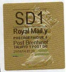 2014 'SD1' (Y 4) POST BRENHINOL TYPE II  (NEW SERVICE FROM 11TH FEB 2014)  RARE LATE USE