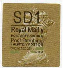 2014 'SD1' (Y 5) POST BRENHINOL TYPE II  (NEW SERVICE FROM 11TH FEB 2014)  RARE LATE USE