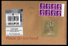 2014 SD1 (Y 4) 'WELSH TYPE 2' (FIRST DAY OF ISSUE) WITH A BLOCK OF 8 X 67P BRIGHT MAUVE ON COVER