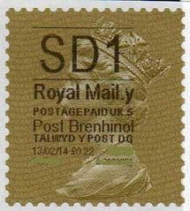 2014 'SD1'( Y 5) 'POST BRENHINOL' GOLD PERF  (NEW SERVICE FROM 11 FEB 2014) VERY LATE USE