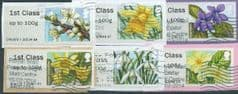 2014 SET 1ST (UP TO 100g)  'FLOWERS (TYPE II) ' (6v)   FINE USED