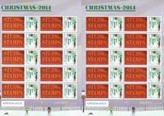 2014 U/M  £1.28 'CHRISTMAS 2014' (STU1967 LOGO)  SMILER SHEET (LIMITED EDITION OF 4 FULL SHEETS ONLY)