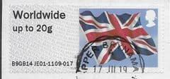 2014 WORLDWIDE 20g 'UNION FLAG' (B9GB14 JE01) FINE USED