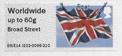 2014 WORLDWIDE 60g 'UNION FLAG- BROAD STREET' FINE USED