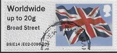 2014 WORLDWIDE UP TO 20g  'UNION FLAG' (BROAD STREET) FINE USED