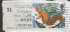 2015 1L (B 4)  'FUR AND FEATHERS - RED SQUIRREL'  FINE USED