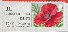 2015 1L SIGNED FOR (B4) (POSTCODED) - COMMON POPPY' (MA15) (TYPE IIa) FINE USED