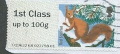 2015 1ST  'FUR AND FEATHERS - RED SQUIRREL' FINE USED