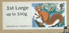 2015 1ST LARGE  'FUR AND FEATHERS - RED SQUIRREL '  FINE USED