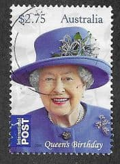 2015 '$2.75'QUEENS BIRTHDAY'  FINE USED*