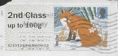 2015 2ND CLASS 'RED FOX' (ERROR - GREY BACKGROUND) FINE USED