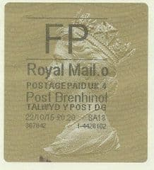 2015 FP ( O 4) 'POST BRENHINOL' TYPE 2a (LATE USE)