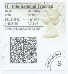 2015 I.T (r 5) TYPE 4a ( 2D BARCODED)  FINE USED