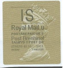 2015 'IS' (U 5) POST BRENHINOL TYPE II    A RARE NEW SERVICE ON OLD LABELS.