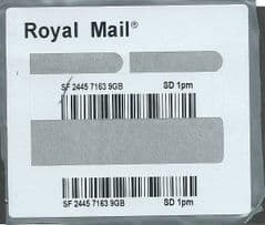 2015 'ROYAL MAIL SD 1PM' DIFFERENT BARCODE LABEL